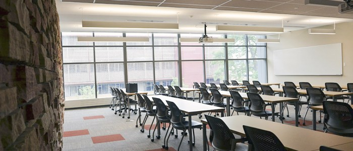 Updated classrooms allow for more room and a better student experience.