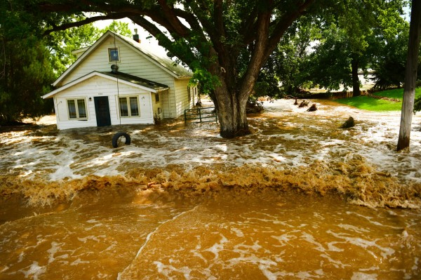 Flood waters consumed a house in Hygiene, CO during the 2013 Colorado floods. (Photo by Helen H. Richardson/ The Denver Post)