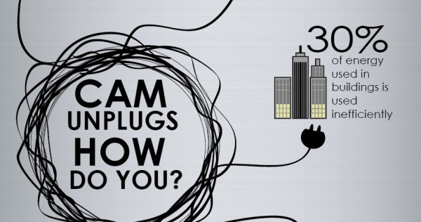 CAM Unplugs how do you? 30% of energy used in buildings is used ineffectively