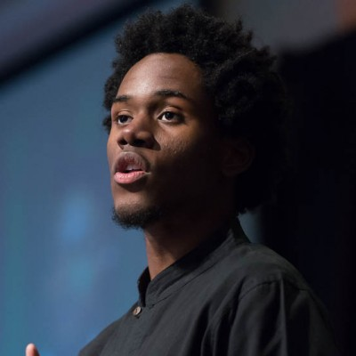 College Spoken Word winner Arisson Stanfield