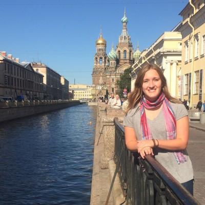 Jenna Hamilton in St. Petersburg, Russia