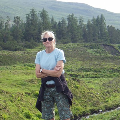 Cindy Griffin during a trip to Scotland.