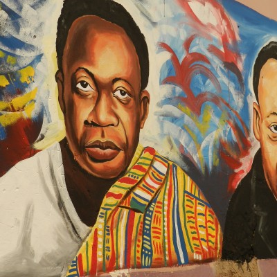 Mural of Dr. Martin Luther King Jr. and Dr. Kwame Nkrumah.