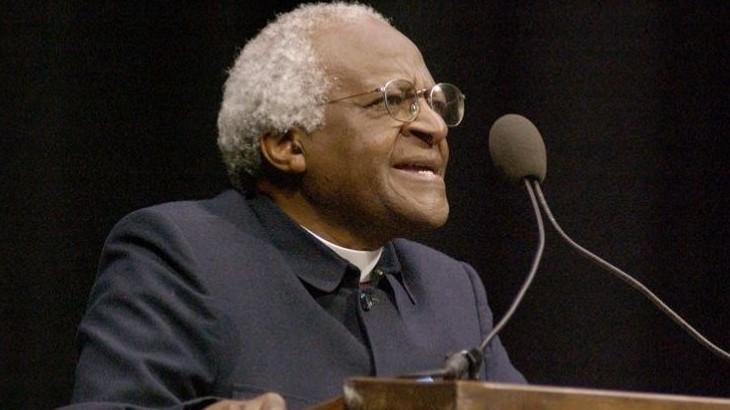 Desmond Tutu spoke in Moby Arena in 2003.