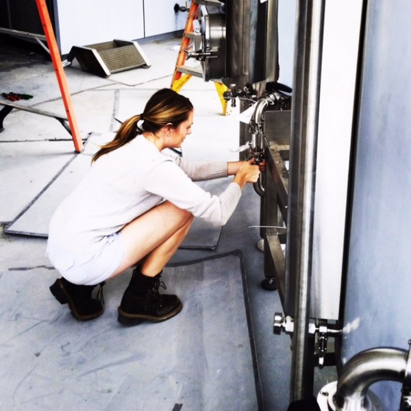 Martz at work in the Left Hand Brewing Company in Longmont.
