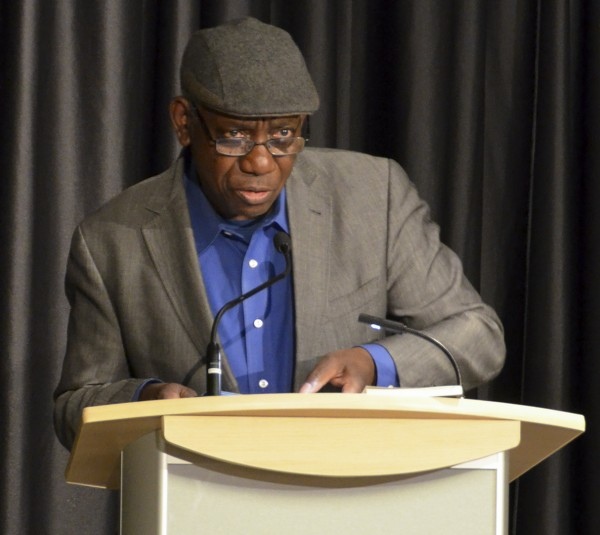 Yusef Komunyakaa reads from his works during the Creative Writing Reading Series on April 21st.