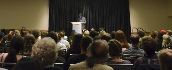 Yusef Komunyakaa takes the stage