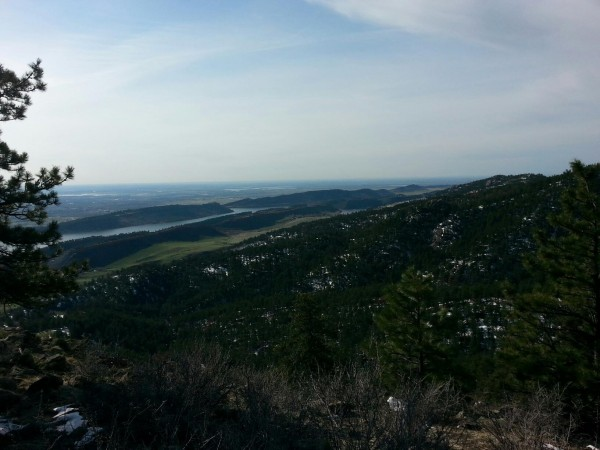 Horsetooth Reservoir in early spring