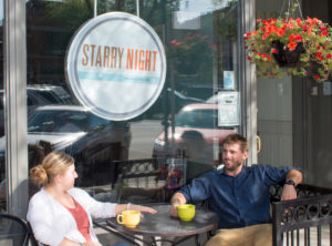CSU alumi Chelsi and Justin Wells are the new owners of Starry Night Espresso Café.