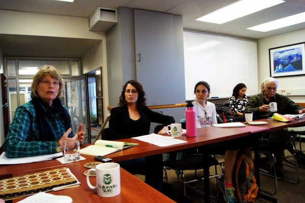 Environmental Justice group meeting on campus