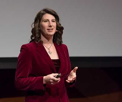 Elizabeth Sink during her Tedx Talk