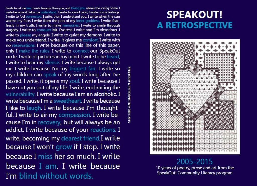 Cover of 10th Anniversary Speak Out! Journal