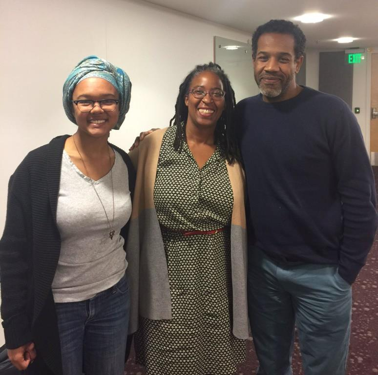 Courtney Satchell, Camille Dungy, and Gregory Pardlo at his reading as part of the CWRS in October 2016