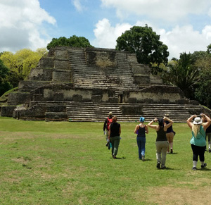 A visit to the Sun Temple in Altun Ha, Belize. (Photo credit: Jesse Bain)