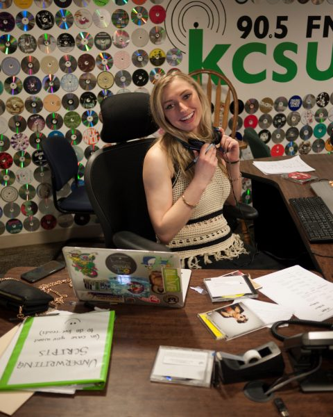 KCSU disc jockey Emma