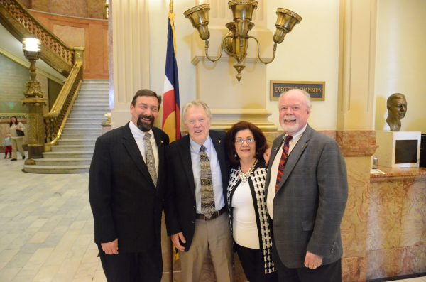 John Straayer with Tony Frank at the state capitol