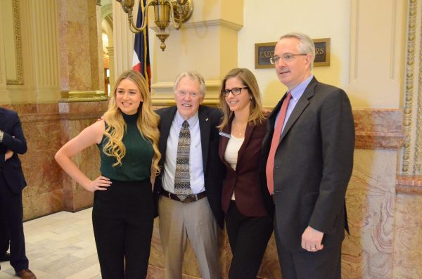 John Straayer with friends at the state capitol