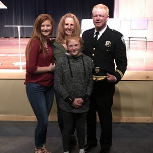 Lt. Kevin Cronin and family