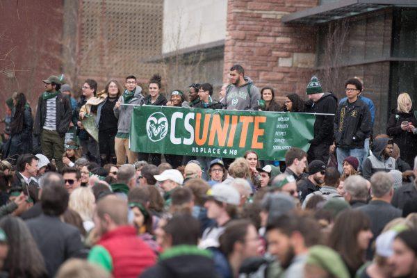 Students at CSUnite solidarity march