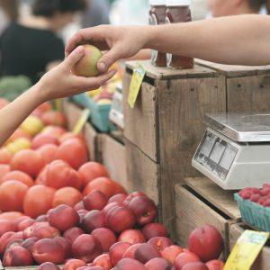 Farmers market purchase