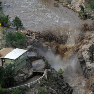 The Big Thompson River floods highway