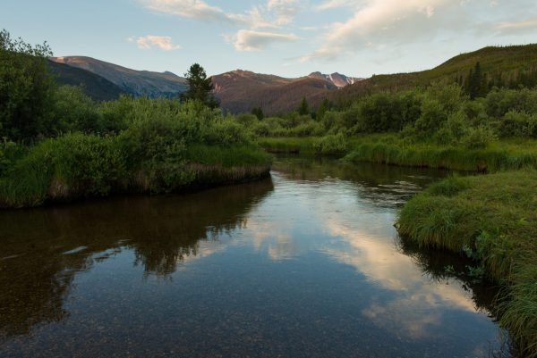 view of the river in Rocky Mountain National Park