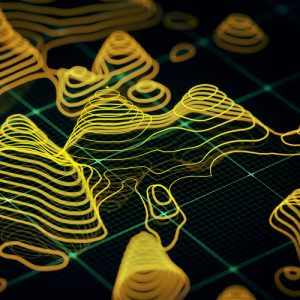Abstract 3D Topographic map