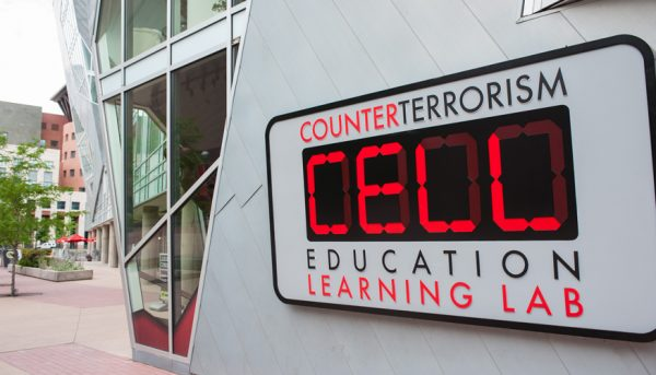 Counterterrorism Education Learning Lab exhibit in Denver