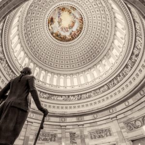 United States Capitol Building Rotunda w/ George Washington