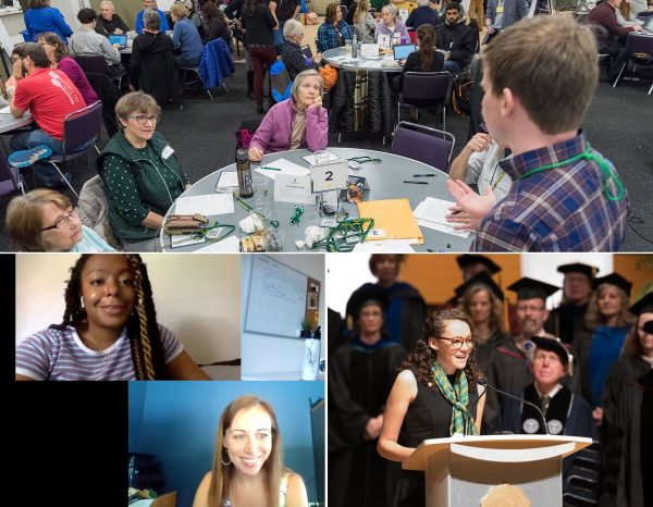 Collage of photos from the Department of Communication Studies at CSU