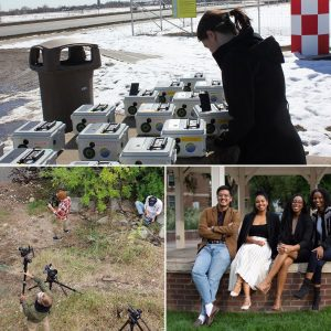 Collage of photos from the Department of Journalism and Media Communication at CSU