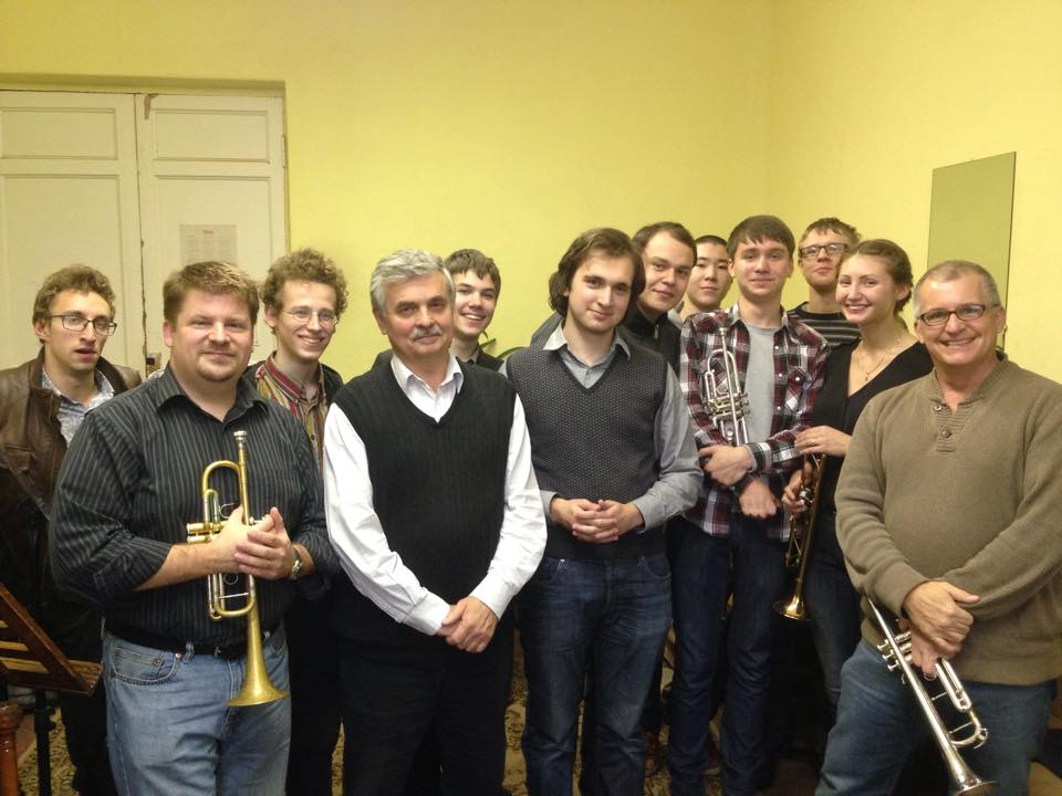 Fortress Brass and students from the St. Petersburg Music Academy.