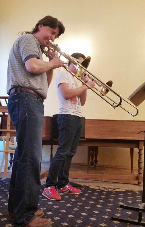 Dan Cherry, Fortress Brass trombonist, and a Moscow Conservatory student.