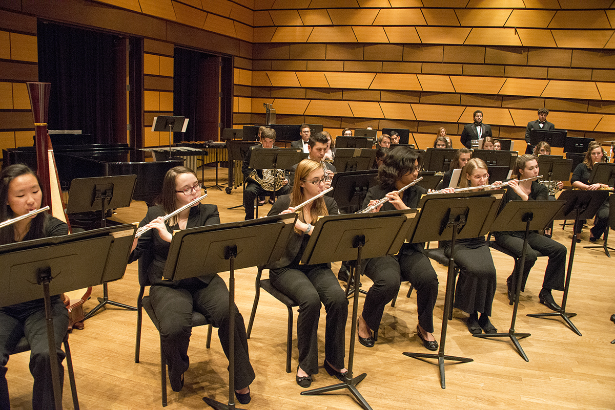 Flute section of Symphonic Band