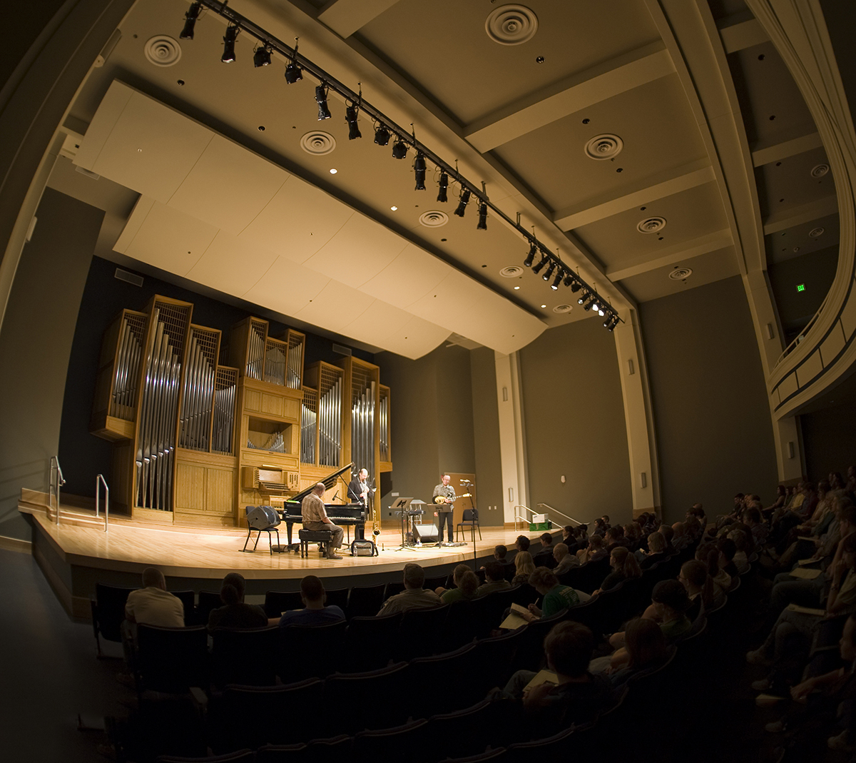 Organ Recital Hall with a jazz concert on the stage