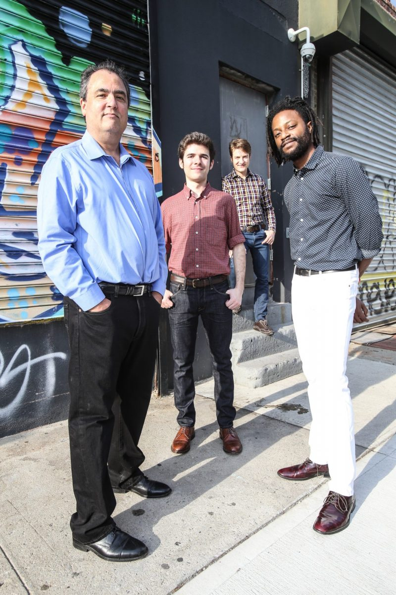 Turtle Island Quartet pictured outside