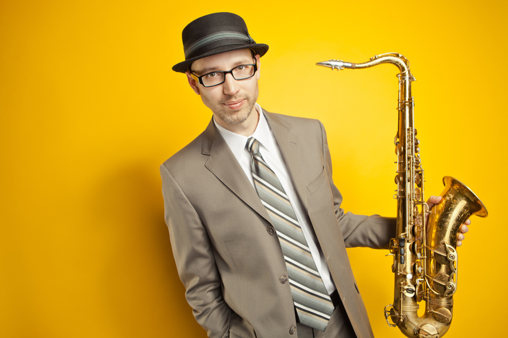 Peter Sommer with a saxophone