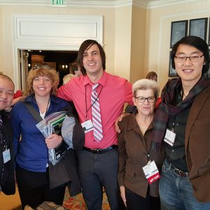 Margaret Miller pictured with Viola Alumni at the 2016 CMEA Conference