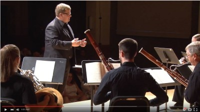 Dr. Richard Frey conducts the CSU Faculty Chamber Winds on the instrumental edition of The Marriage of Figaro in 2012.