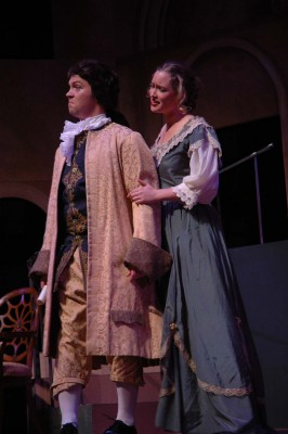 James Baumgardner, 2009, B.M. in Music, as Count Almaviva and Cass Mann, 2007, M.M. in Music, as Countess Almaviva in the the 2007 production of Le Nozze di Figaro