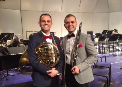 John McGuire and Wesley Ferreira following the Wind Symphony concert in Grand Junction