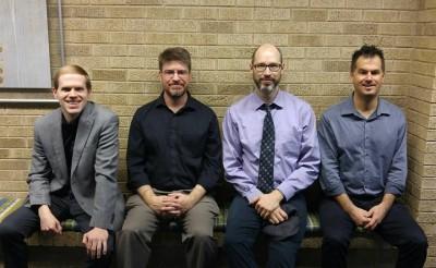 James David, Kevin Olson, Peter Sommer, and Shilo Stroman at NASA