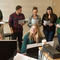 Denise Apodaca, Special Assistant Professor of Music, teaches MU 151, piano for educators, in the University Center for the Arts. March 28, 2016