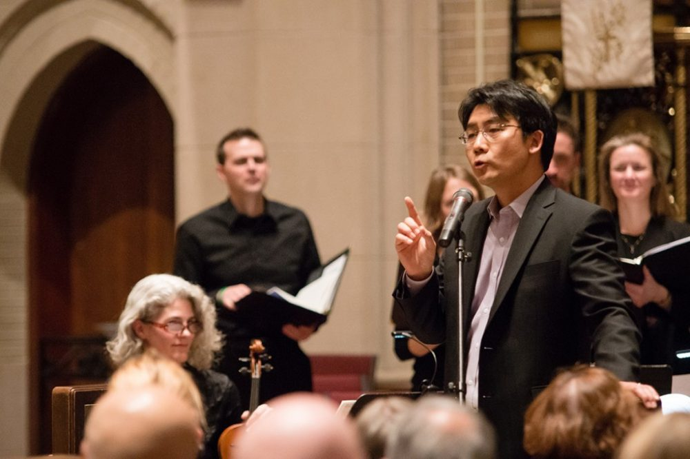 James Kim pictured providing insights on Bach