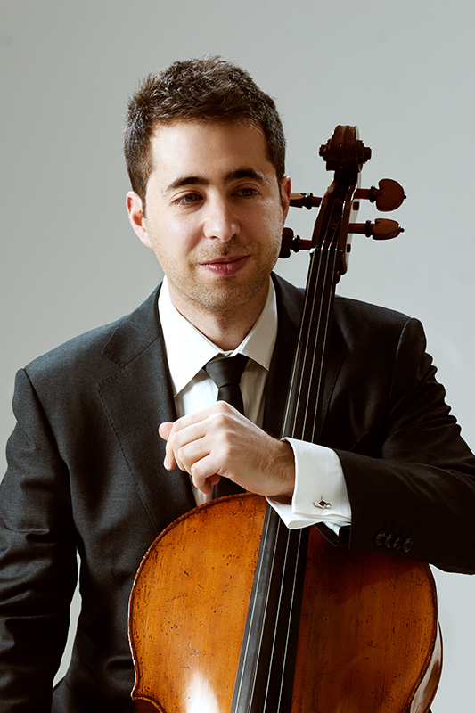 Matthew Zalkind pictured with a cello