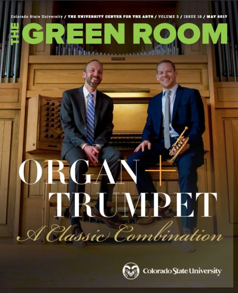 May 2017 cover of The Green Room | Organ + Trumpet a classic combination