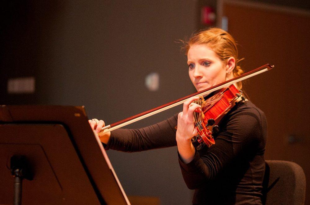 Female violin student