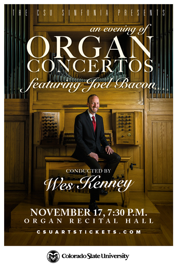 Organ Concerto Concert promotional poster