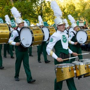 CSU Marching Band drumline