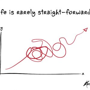 Life is rarely straight-forward graphic of graphic